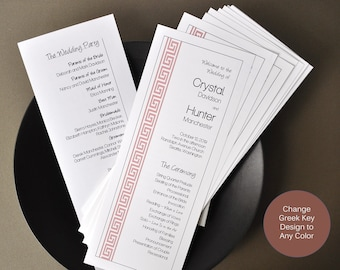 Greek Key Invitation
