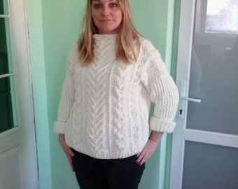 Sweater Hand made Oversize knitting