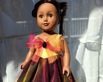 The ultimate summer gown fits American Girl dolls and 18 inch dolls