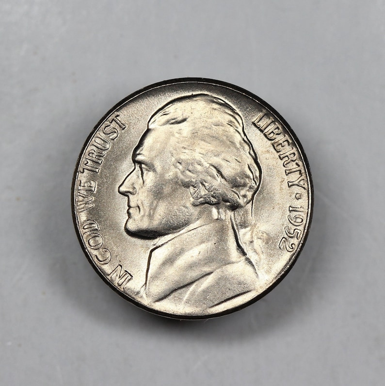 1952 Jefferson Nickel Uncirculated US Coin