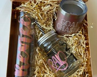 Graduation Gift Box - ConGRADs to the graduate in Rose Gold Everything.