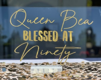 Acrylic Signs for parties, home decor, and events