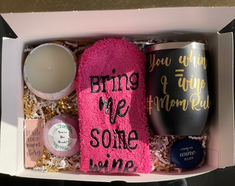 Wine Gift Box for Mother's Day, Spa Day, or Birthday