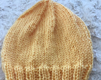 Baby hats, simple knit