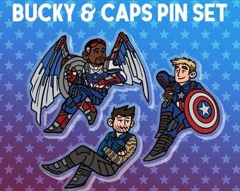 Bucky & Caps Pin Set [PRE ORDER]