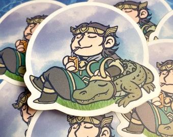 Kid Loki & Gator Loki Sticker