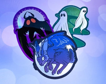 Big Holo Cryptids Stickers