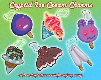 Cryptid Ice Cream Charms