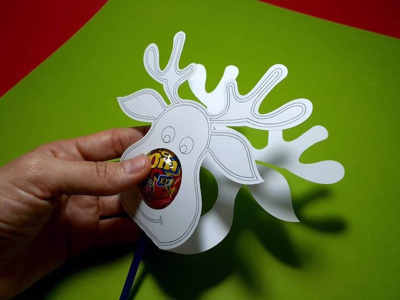 SVG Coloring Reindeer Lollipop Holder Rudolph Red Nose ...