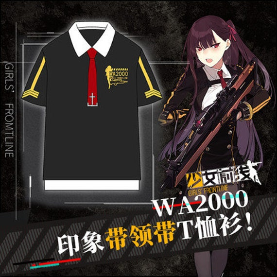 Girls' Frontline Wa2000 Official Fashion T Shirt And Special Tie by Etsy