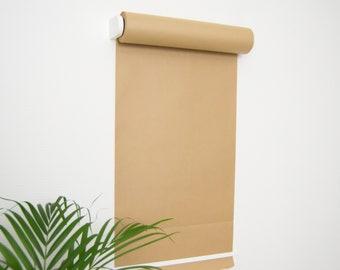Wall Mounted Studio Paper Roller - Butcher Paper Roll Holder - Kraft Paper Dispenser - Café Menu Board - Hanging Daily Note Roll - WHITE