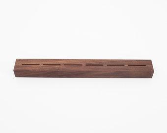 Knife Rack, Wood Knife Block, Knife Block Holder, Knife Storage Block, Knife Holder Wood, Kitchen Gifts for Men, Oak Knife Block Walnut