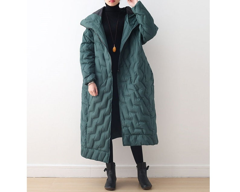 Casual Coat Womens Winter Loose Fitting Hooded Irregular Hem Down Cotton Coats Jackets With Pockets Casual Jackets For Women Long Coat