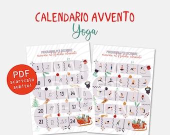 Calendario Avvento - Yoga - Download digitale immediato