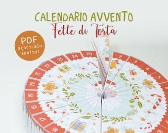 Calendario Avvento Fette di Torta - download istantaneo
