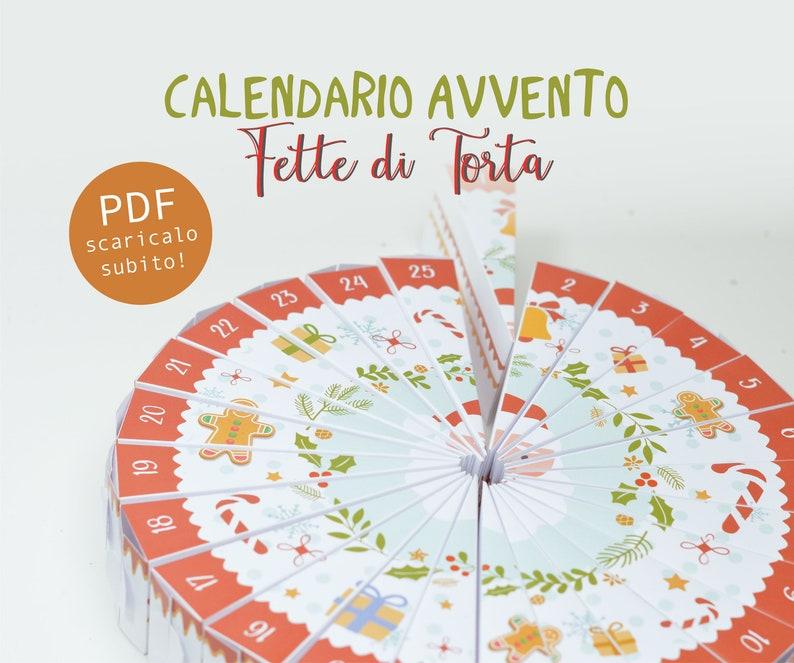 Calendario Avvento Fette di Torta download istantaneo