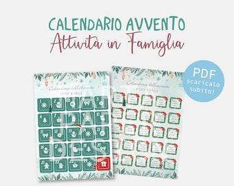Calendario Avvento - Attività in Famiglia - Download digitale immediato