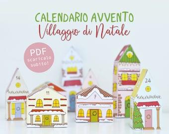 Calendario Avvento Villaggio di Natale - download istantaneo