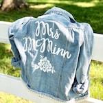 Bride Handpainted Denim Jacket