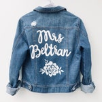 Send Your Own Jacket Handpainted Personalized Bridal Jacket