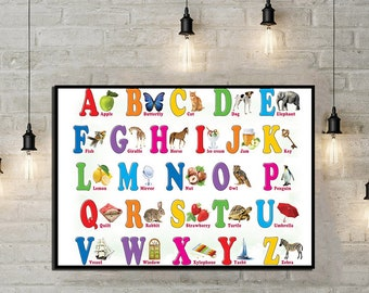 alphabet poster etsy