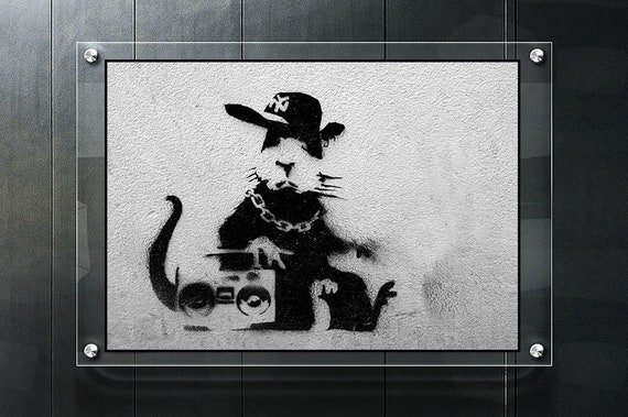 Banksy I want change not coins quality glossy photo print A4 or A5