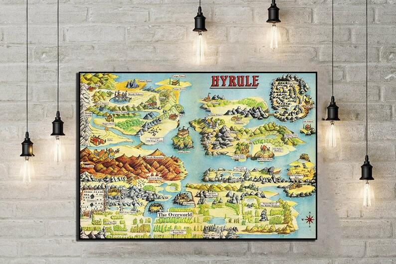 Zelda Map on