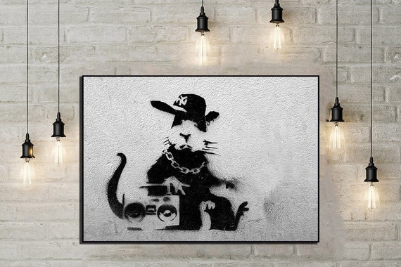 A1 SIZE BANKSY STREET ART POSTER  PRINT Rats collage  FOR GLASS FRAMING