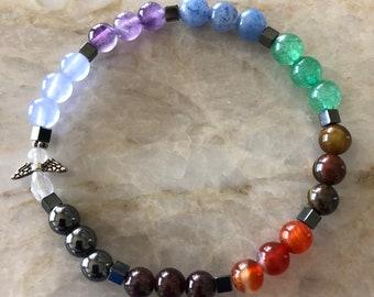 Chakra Angel Stretch Meditation, Reiki, Yoga Bracelet
