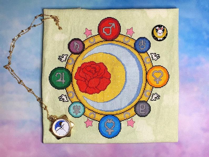 Lunar Princess Stitch-Along SAL Cross Stitch Pattern PDF ONLY image 0