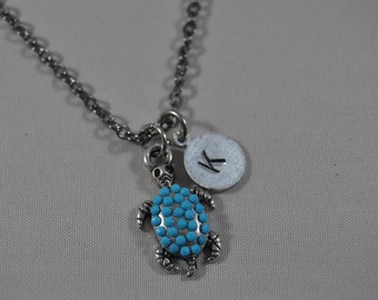 Personalized Turtle Necklace, Beach Jewelry, Summer Look