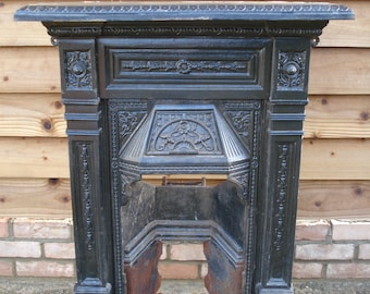 Cast Iron Fireplace Etsy