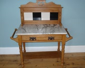Victorian Art Nouveau Marble Topped Washstand (UK delivery only)