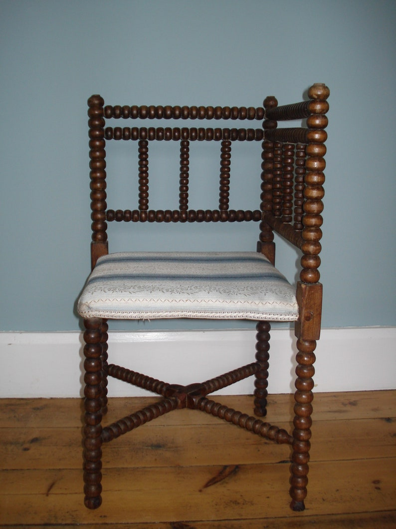 Arts And Crafts Corner Chair Bobbin Turned Uk Delivery Only Free Local Delivery Only