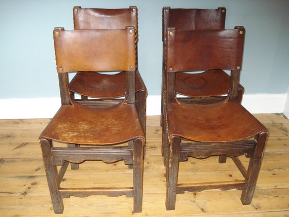 Outstanding Vintage Oak And Leather Brass Button Dining Chairs Uk Delivery Only Andrewgaddart Wooden Chair Designs For Living Room Andrewgaddartcom