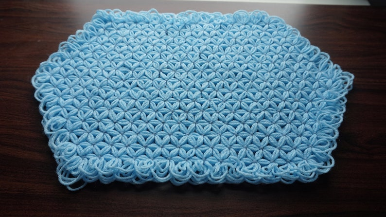 crochet Table cover crochet tablecloth,crochet rectangular table cover Coffee table cover,Housewarming gift Floral center table cover set