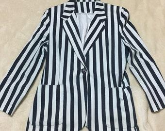 Vintage navy striped jacket