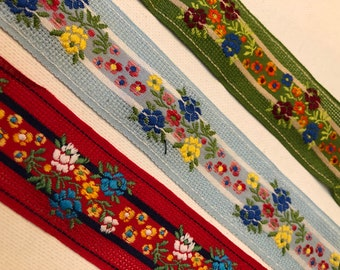 "Woven Border Sew Jacquard Ribbon T316 01yd Embroidered Trim 2.50/"" wide"