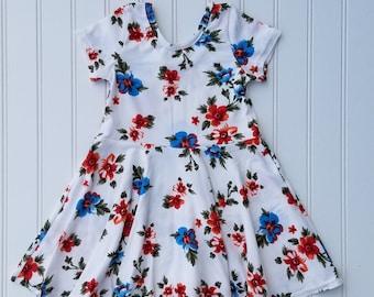 Twirly Dress / 18M / Floral Dress / Baby Dress / Scoop Back Dress / Toddler Dress / Dress