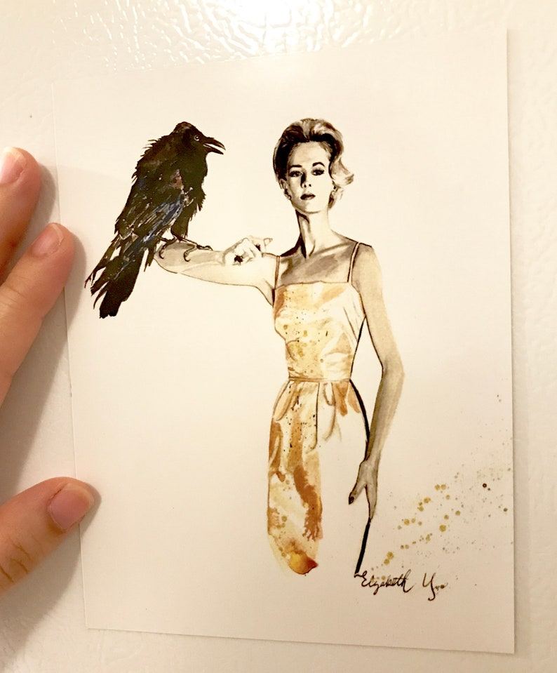 The Birds Tippi Hedren MAGNET ART PRINT By Elizabeth Yoo  The image 0