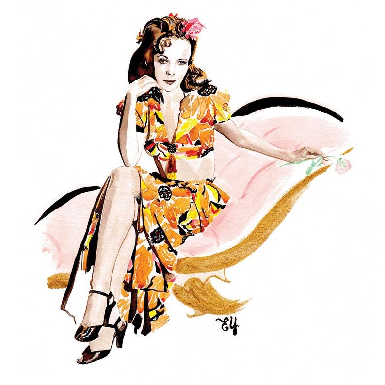 Ida Lupino Femme Fatale ART L.E. PRINT On Museum Matte Paper image 0