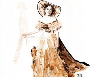 Joan Fontaine ART L.E. PRINT of 50 By Elizabeth Yoo | The Films of Alfred Hitchcock
