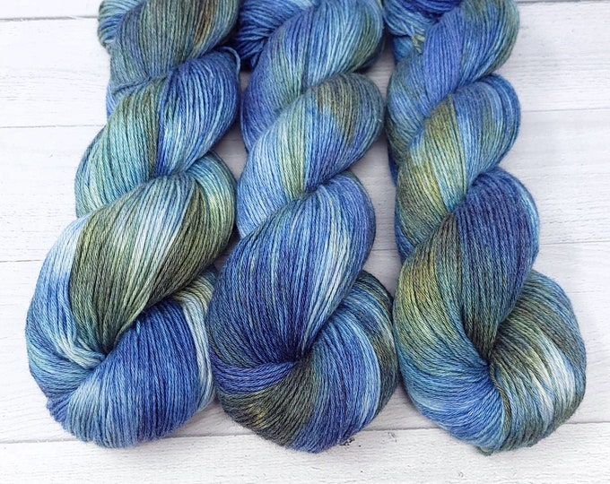 'Paddle my Canoe' wool/cotton sock yarn, Summer by the Lake Collection yarn