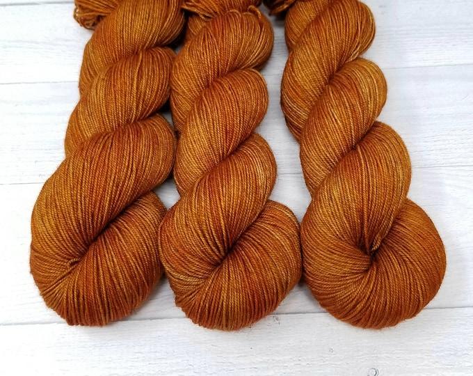 'Rusty Oak' Yak sock yarn