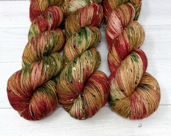 'Cabin Christmas' tweed sock yarn