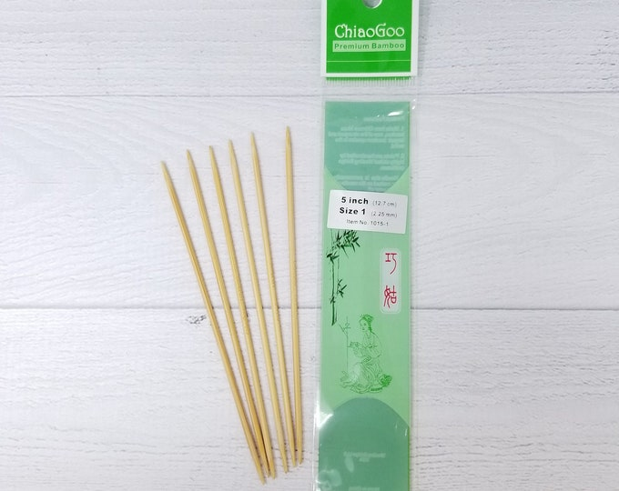 ChiaoGoo Double Point Bamboo Knitting Needles