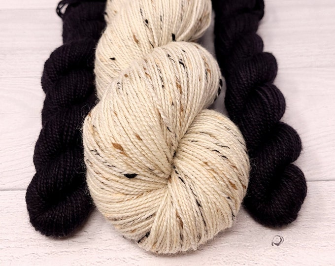 'Sheep Socks Kit' Tweed sock yarn/2 sock minis