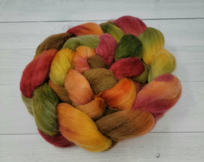 'Autumn Harvest' Polwarth or Corriedale Cross Roving