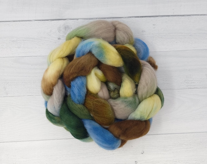 'Cattails' Polwarth roving