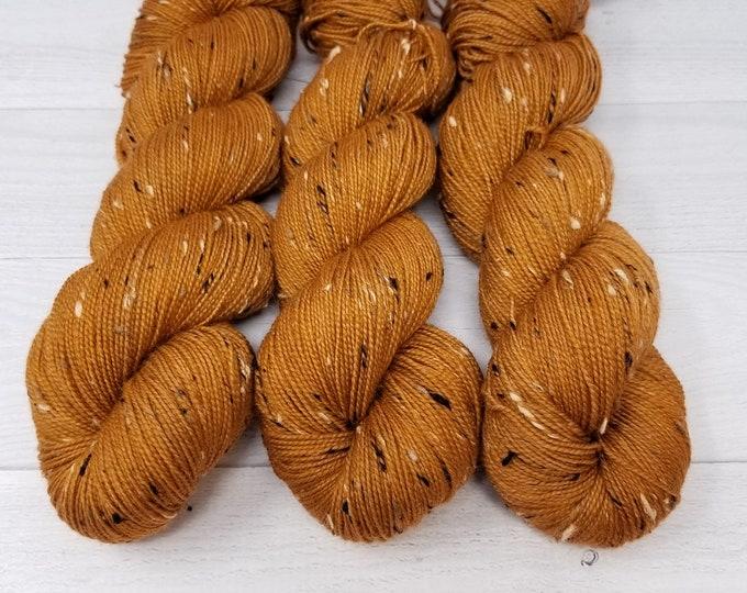 'Copper Kettle' Tweed sock yarn